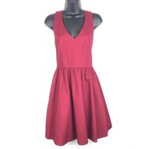 Lauren James Augusta Crimson Bow Dress NWT Small